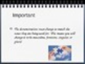Spanish Demonstratives Keynote Slideshow Presentation for Mac