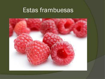 Spanish Demonstratives (Los Demonstratives; esta, estos, esa, etc)