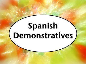 Spanish Demonstratives PowerPoint Slideshow Presentation