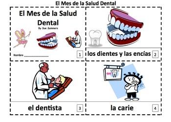 Spanish Dental Health Month 2 Booklets - El Mes de la Salu