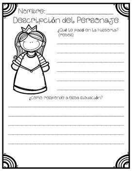 In Spanish / Describing Fairy Tales Characters {La Bella Durmiente}