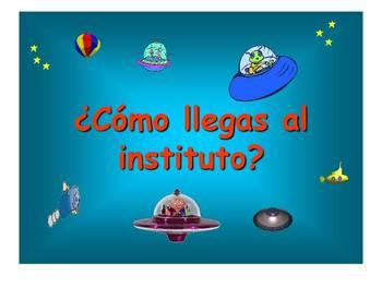 Spanish Teaching Resources. Describing Transport to School PowerPoint