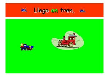 Spanish Teaching Resources. Describing Transport to School PowerPoint