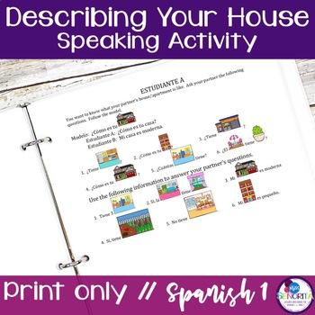 Spanish Describing your House Speaking Activity