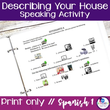 Spanish Describing your House Speaking Activity