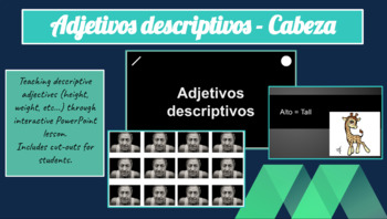 Spanish Descriptif Adjectifs