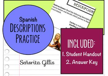 Spanish Descriptions Practice