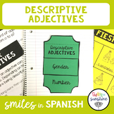 Spanish Descriptive Adjective: Interactive Notebook Flip B