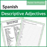 Spanish Descriptive Adjectives: Adjectives for People Pack