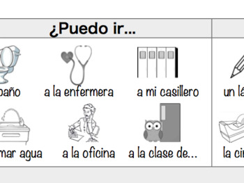 Spanish Desk Strips with Pictures