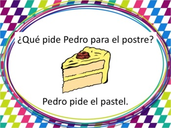 Spanish Dessert Foods Powerpoint with Pedir - all forms