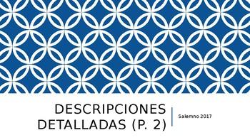 Spanish Detailed (Character) Descriptions - PowerPoint Presentation