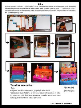 Spanish Día de Muertos - Day of Dead Mini Altar Project, Calaveritas and more