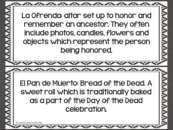 Día de los Muertos Day of the Dead Posters or Word Wall