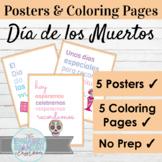 Spanish Día de los Muertos Posters and Coloring Pages Day