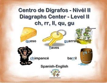 Spanish Diagraphs Level II / Dígrafos II, ch, ll, rr, gu,