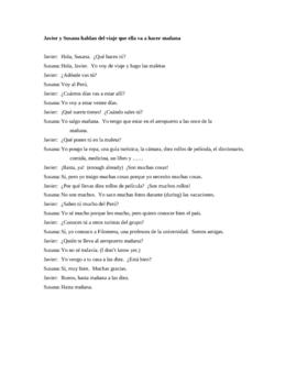 Spanish Dialogue Practice