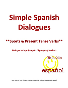 Spanish Dialogues - Sports Vocabulary & Present Tense Verbs