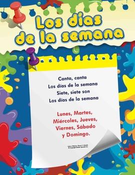 Spanish Dias de la Semana Song - Flashcards