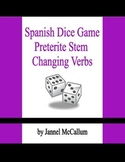 Spanish Dice Game - Preterite Stem Changing Verbs