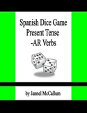 Spanish Dice Game - Regular -ar Verbs in the Present Tense