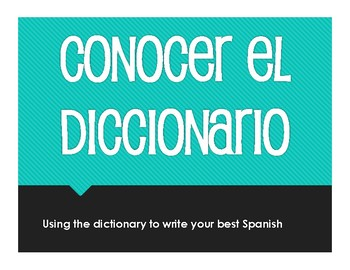 Spanish Dictionary Activity