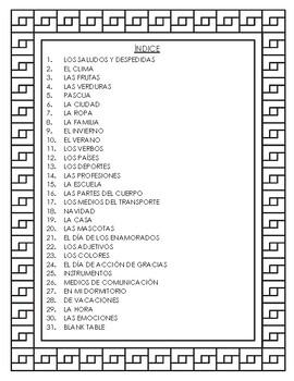 Spanish Dictionary Skills Booklet (El Diccionario)