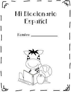 Spanish Dictionary template- Diccionario Español