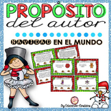 Spanish Differentiated Author's Purpose Task Cards. NAVIDAD ALREDEDOR DEL MUNDO