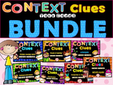 Spanish Differentiated Context Clues Task Cards Bundle **2