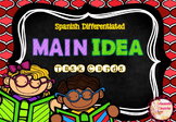 Spanish Differentiated MAIN IDEA Task Cards (La idea principal)