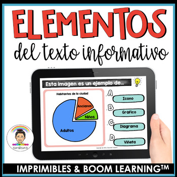 Spanish Differentiated Non-Fiction Text Features Task Cards