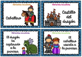 Spanish Differentiated STORY ELEMENTS Task Cards (Elementos del cuento)