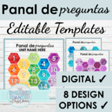 Spanish Digital Activity Templates | Editable Panal de Pre
