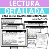 Spanish Close Reading - Daily Reading Slides Yearlong