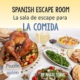 Spanish Digital Escape Room for Spanish Food La Comida Dis