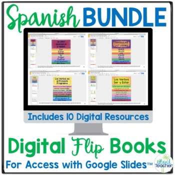 Spanish Digital (Google Drive) Flip Books BUNDLE