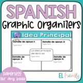 Digital Spanish Reading Graphic Organizers - Organizadores Gráficos Lectura
