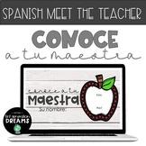 Spanish Digital Meet the Teacher Slides - Distance Learnin