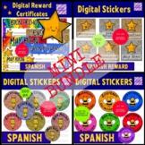 Spanish Digital Rewards Mini Bundle - Virtual Certificates and Digital Stickers