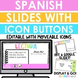 Distance Learning - Spanish Digital Slides with Icon Buttons