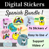 Spanish Digital Sticker Bundle #1 76 Stickers