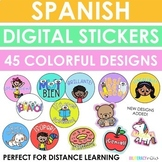 Spanish Digital Stickers - Distance Learning