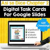 Spanish House and Family Digital Task Cards Así Se Dice Fa