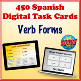 Spanish Digital Task Cards Verb Form Bundle (Boom Cards)