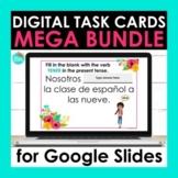 Spanish Digital Task Cards for Google Slides Mega Bundle |
