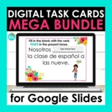 Spanish Digital Task Cards for Google Slides Mega Bundle |