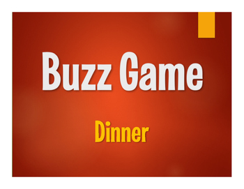 Spanish Dinner Buzz Game