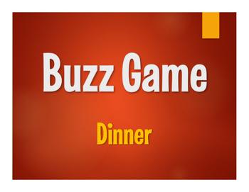 Spanish Dinner Buzz Game