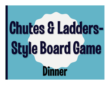 Spanish Dinner Chutes and Ladders-Style Game